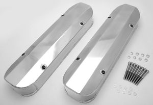 FABRICATED ALUMINUM VALVE COVERS POLISHED PONTIAC NO HOLE