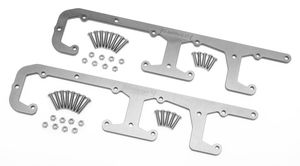 COIL BRACKETS for LS ENGINES (1 pr); Billet Aluminum- Clear Anodized