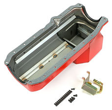 ECONO-SERIES Oil Pan; Chevy 305-350 86-00 Engine into S10 Swap; 7 Qt; WET Sump