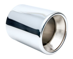 "ROUND- Straight HOT TIPS Exhaust Tip; 2-1/2"" System; 6"" Long; 5"" Out-CHROME"