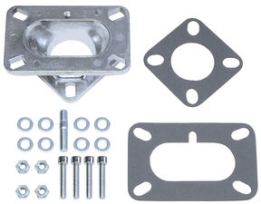 "1-5/8"" Tall, 2BBL Carb to 1BBL Manifold Carburetor Adapter -Cast Aluminum"