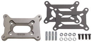 "1/2"" Tall, Holley 2BBL to Small 2BBL Manifold Carburetor Adapter -Cast Aluminum"