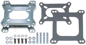 "15/16"" Tall, 2BBL Carb to 4BBL Intake Manifold Carburetor Adapter -Cast Aluminum"