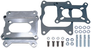 "1-1/8"" Tall, 2BBL Carb to Quadrajet Manifold Carburetor Adapter -Cast Aluminum"