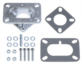 "1-5/8"" Tall, Weber DGV to Jeep Carburetor Adapter -Cast Aluminum"