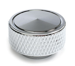 "Air Cleaner Wing Nut 1/4""-20; Knurled-CHROME"