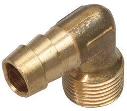 "90 deg. Fuel Hose Fitting; 3/8"" NPT to 1/2"" I.D.- BRASS"