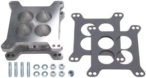 "2"" 4BBL HOLLEY/AFB- Cast Aluminum SWIRL-TORQUE Carburetor Spacer w/ PCV Valve"