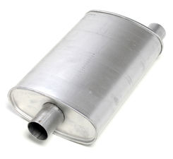 "2-1/2"" Inlet/Outlet Turbo Muffler; 18"" Long; 10"" Wide; 4-1/2"" Tall"