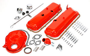1965-95 BB CHEVROLET 396-454 ENGINE KIT WITHOUT PCV- CHEVY ORANGE POWDER-COATED