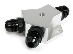 BILLET FUEL Y-BLOCK FITTING WITH -10 PORTS