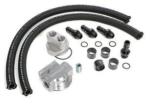 BILLET SINGLE OIL FILTER RELOCATION KIT-FORD & MOPAR