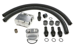 BILLET SINGLE OIL FILTER RELOCATION KIT-GM V8 & LS