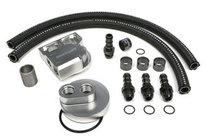 BILLET SINGLE OIL FILTER RELOCATION KIT-FORD DIESEL 1 1/2 THREAD