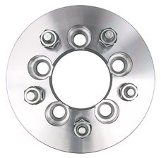 "5 LUG Wheel Adapters;4.5"" WHEEL Dia;100mm HUB Dia;12mmx1.5 Thread (pr)- ALUMINUM"