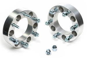 "BILLET WHEEL SPACERS; 6 LUG; 5.5"" BOLT PATTERN; 12MM X 1.5 STUDS; 1 1/2"" THICK"