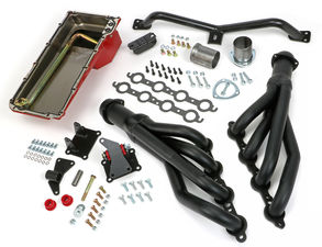 SWAP IN A BOX KIT-LS INTO 2WD 73-87 GM TRUCK/73-91 SUV; AUTO TRANS; BLACK MAXX