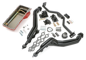 Engine Swap In A Box Kit; LS Engine in 82-04 S10; Long Tube Hedders- Uncoated