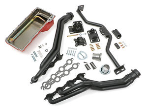 Engine Swap In A Box Kit;LS Engine in 82-04 S10; Long Tube Hedders-Black Ccoated
