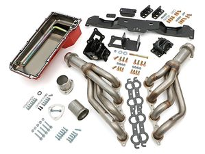 "Engine ""SWAP IN A BOX"" KIT; LS in 75-81 Camaro/Firebird; Auto Trans- Raw Headers"