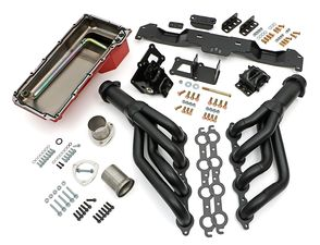 "Engine ""SWAP IN A BOX"" KIT; LS in 75-81 Camaro/Firebird; Auto Trans- Black-Maxx"