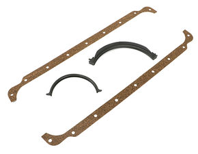 "1971-80 Chrysler 360 ""OEM Style"" Oil Pan Gasket- Cork Rails/Rubber End Seals"
