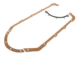 "Pontiac 350-455 ""OEM Style"" Oil Pan Gasket- Cork Rails/Rubber End Seals"