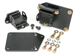 "ENGINE SWAP MOUNTS; LT (GEN5) IN SB CHEVY CAR CHASSIS; 5/8"" FORWARD; RUBBER PADS"