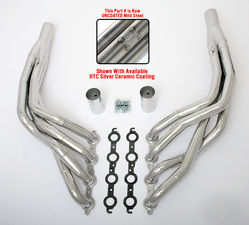 "LS in 1968-74 X-Body Headers; 1 7/8"" x 2"" Dia, Stepped Long Tubes; Uncoated"