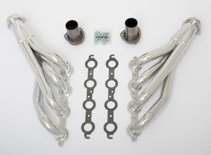 "LS into 1991-96 B-Body Headers; 1 3/4"" Dia, Mid-Length Tubes; HTC (Silver)"