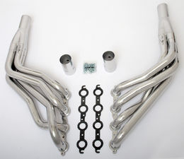 "LS in 1967-98 C10 1/2 Ton TRUCK (2WD) Headers; 1 7/8"" Dia, Long Tubes-HTC"