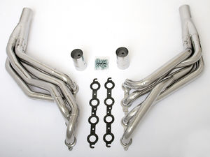 "LS in 82-83 FORD FOX Body Headers; 1 7/8""x2"" Dia, Stepped Long-HTC"