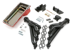 Engine Swap In A Box Kit; LS in 68-72 GM A-Body; 4L60E; Mid-Length- Uncoated