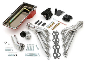 Engine Swap In A Box Kit; LS in 68-72 GM A-Body; 4L60E; Mid-Length- HTC Coated