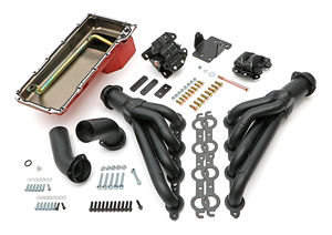 Engine Swap In A Box Kit; LS in 68-72 GM A-Body; 4L60E; Mid-Length- Black Coated