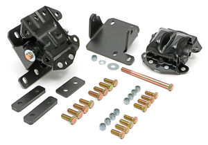 ENGINE MOUNT KIT; LS & TH350, TH400, 700R4 IN '68-72 GM A-BODY (CHEVELLE, ETC)