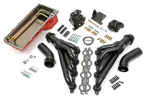 Engine Swap In A Box Kit; LS in 68-72 GM A-Body; TH350; Mid-Length- Uncoated