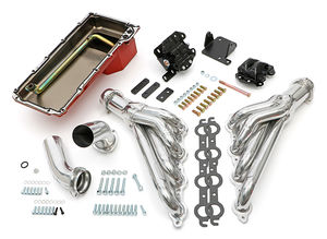 Engine Swap In A Box Kit; LS in 68-72 GM A-Body; TH350; Mid-Length- HTC Coated