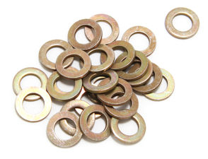 "5/16"" Valve Cover Flat Washers (25 per pkg.)- YELLOW ZINC"