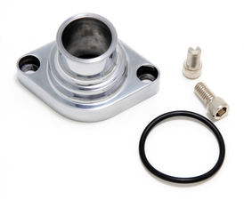 STRAIGHT-UP Style Water Neck; O-Ring SealSB and BB Chevy V8- Polished ALUMINUM