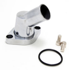 45deg Swivel Style Water Neck; O-Ring Seal;SB and BB Chevy V8- Polished ALUMINUM