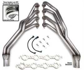 "STAINLESS Headers; 2010-15 Camaro 6.2L / 7.0L; 1-3/4"" LONG TUBES- HTC COATED"