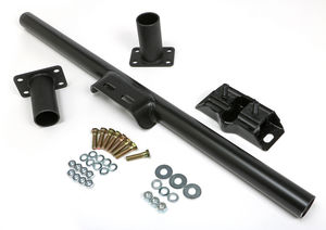 C4 & C6 TRANSMISSION CROSSMEMBER KIT; NO DROP; RUBBER PAD