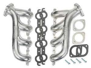 LS ENGINE SWAP CAST EXHAUST MANIFOLDS; HTC SILVER CERAMIC COATED