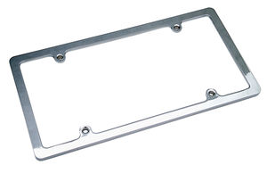 LICENSE PLATE FRAME without LIGHT-CHROME