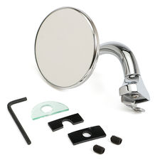 "CHROME STEEL 3"" PEEP MIRROR"