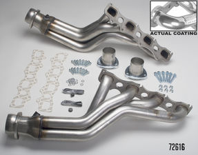 STAINLESS STEEL HEADERS- '06-17 CHARGER, MAGNUM, '05-14 300; LONG- HTC COATED