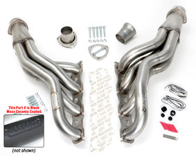"STAINLESS Headers; 06-17 Charger, 09-17 Challenger 5.7-6.4L; 2"" Diam- BLACK MAXX"
