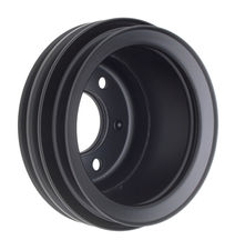 CRANKSHAFT Pulley; 3 Groove; 65-66 FORD 289; O.E. Water Pump- ASPHALT BLACK