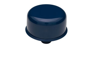 "3/4"" Neck PCV Breather Cap; 2-3/4"" Overall Diameter - FORD BLUE Powder Coated"